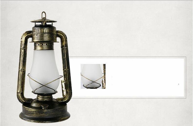 Retro país do vintage ferro vidro lanterna
