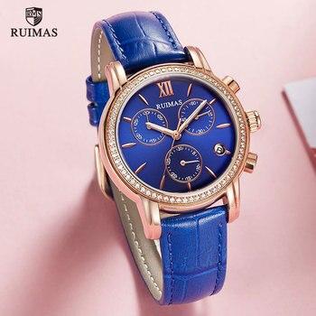 RUIMAS Casual Women Romantic Wrist Watch Genuine Leather Quartz Watches Lady Simple Dress Clock Gift Relogio Montre Femme 6783