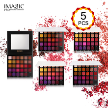 IMAGIC 5PCS Makeup Eyeshadow Palette Wholesale drop shipping Makeup Palette maquillage Beauty 30colors Shades Pigmented  Warm Co