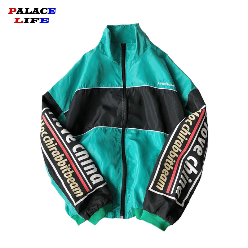Hip Hop Spring Jackets Men Windbreaker Patchwork Harajuku Multi Pockets Couple Jacket Vintage Casual Track Coat Streetwear