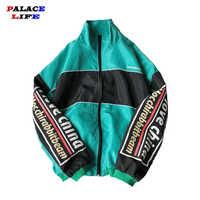 Hip Hop Spring Jackets Men Windbreaker Patchwork Harajuku Multi Pockets Couple Jacket Vintage Casual Track Coat Streetwear
