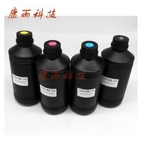UV Ink For Epson Flatbed printer ink UV Led Ink Printing Ink White/BK/C/M/Y 5Cx500ml DX5 DX6 DX7 Printer head For Soft Materials