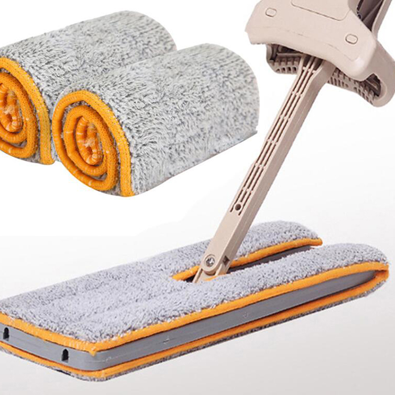 Double Sided Mop Cloth Non Hand Washing Flat Mop Wooden Floor Mop Dust Push Mop Household Cleaning Accessories