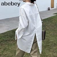 Frauen Shirts Stilvolle Tops und Blusen 2019 Celmia Revers Casual Feste Langarm Tasten Asymmetrische Damen Baggy Blusas S-3XL