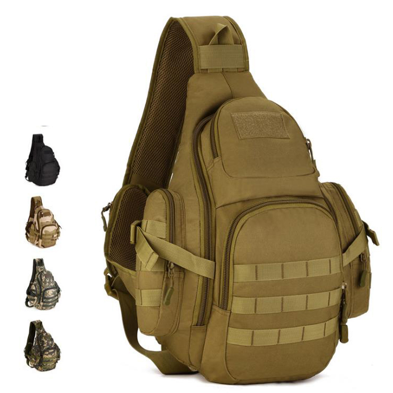 Molle Military Sling Bags Camping Backpacks Molle Travel Bag Belt Single Shouder Assault Outdoor Sports Nylon Computer XA575WA