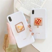 INS heißer Nette Anime 3d pizza ei kaffee Telefon Abdeckung für iphone 11 pro max fall für iphone 8 7 6 6s x xr xs max capa funda coque