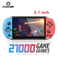 Retromax 5.1 Inch X12 Video Game Draagbare Console Ondersteuning Tv Output X12 Retro Draagbare Handheld Video Game Console