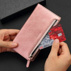 Image 3 - Luxe Kaarthouder Wallet Case Voor Samsung Galaxy S20 Ultra 5G S10 Plus S9 S8 A21s Leer Rits Flip magnetische Telefoon Bag Cover