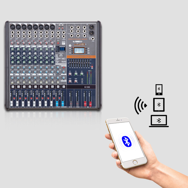Professional Audio Mixer Bluetooth 8 Channels 16/ 24Channels DJ Mixer Console For Conference Meeting, Stage, Line Array Speaker