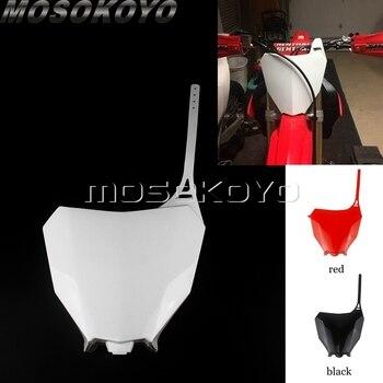 1pcs Motocross Dirt Pit Bike ABS Front Number Plate For Honda CRF250R CRF250RX CRF450R CRF450RX  2017-2020  CRF 250/450 RX 21 front wheel stainless steel spokes nipples cr125 cr250 cr500 crf250r crf450r crf250x crf450x cr crf dirt bike motocross