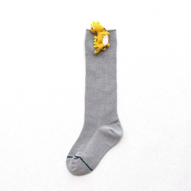Baby Socks for Girls Cotton Knee High Socks Girl Casual Children's Socks for Boys Cute Cartoon Socks for Boy Autumn Winter Style 3