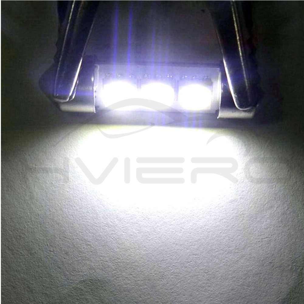 10X Putih C5W C10W 5050 SMD 3Led 36 Mm 39 Mm 41 Mm DC 12V Auto LED Memperhiasi Dome cahaya Lampu Pintu Lampu Baca Ekor Bohlam Cadangan LED