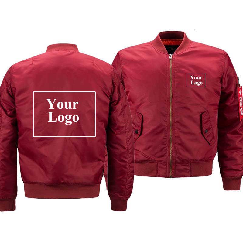 Bombardeiro jaqueta piloto masculino casaco acolchoado à prova dthin água fina outono logotipo imprimir à moda personalizado extra grande militar dropship