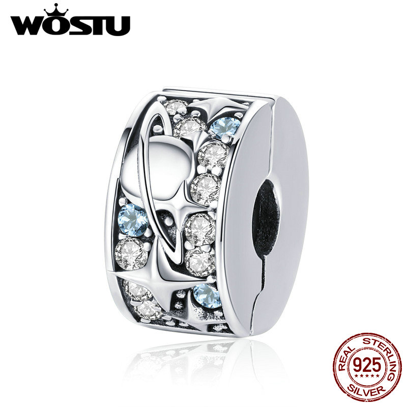 WOSTU Pendant Bracelet Planet Jewelry Charm Beads-Fit 925-Sterling-Silver CQC985 Gift