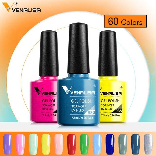 Venalisa Gel Varnish Long Wear Top Nail Art Design Manicure 60Colors 7.5ml Soak Off Enamel Gel Polish UV Gel Nail Polish Lacquer 3