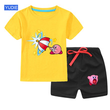 Kids Boys Clothes Boy Summer Clothing Sets Short Sleeves Tops Shirt Shorts Suits Children Clothing casual summer gentleman style kids boys clothing sets cotton sling strap costume shirt short jeans boys clothes suits