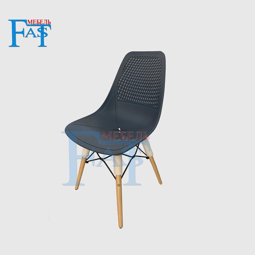 4 Pcs Dining Chair On Beech Legs With Art Design Hard Plastic Seat Kitchen Chair Home Chair Meeting Chair High Quality