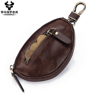 Fashion Men Key Bag Genuine Leather Small Coin Purse High Quality Key Wallets Key Case for Car Key Chains Cover New Key Holder