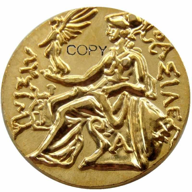 G (01) Alexander III Đại 336-323 TRƯỚC CÔNG NGUYÊN. vàng Drachm Hy Lạp Cổ Đại Đồng Xu Mạ Vàng bản sao đồng tiền