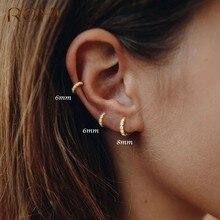 ROXI – petites boucles d'oreilles rondes en Zircon et cristal pour femmes, bijoux en argent Sterling 925