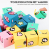Wooden Expressions Matching Block Puzzles Building Cubes Toy Emotional Matching Early Educational Printed Colorful Expression