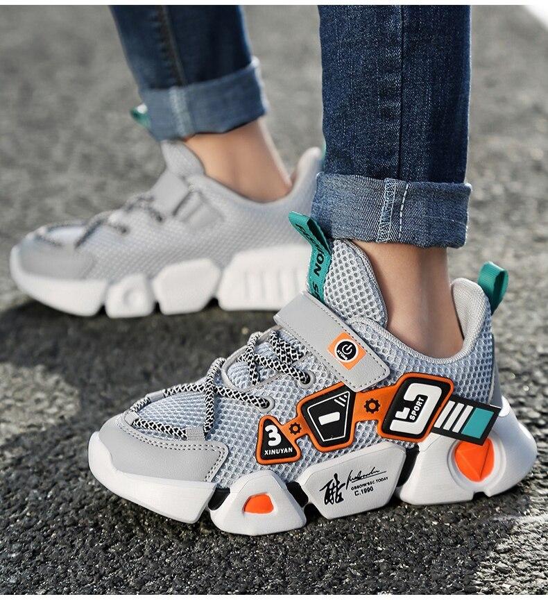 para meninos, sapato esportivo infantil de corrida com fundo macio