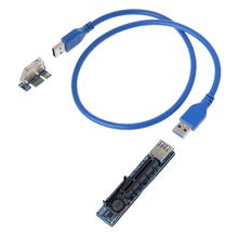 เพิ่มการ์ดPCI Express USB 3.0อะแดปเตอร์Raiser Extender PCIE Riser USB 3.0 PCI E SATA PCI E Riser PCI Express X1 To X4 Slot