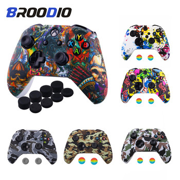 Anti-slip Silicone Protective Skin Case for XBox One X S Controller Protector Water Transfer Printing Camouflage Cover Grip Caps - discount item  4% OFF Games & Accessories