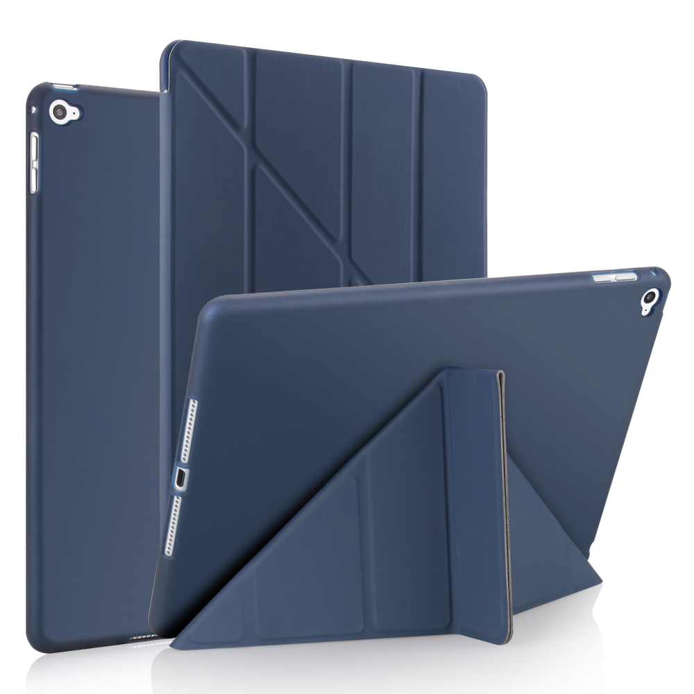 "Ultra-thin TPU Case Cover For iPad Air2 Case 2018 9.7"" Silicone Soft Back Pu Leather Smart Case for iPad 6th generation Case 580"