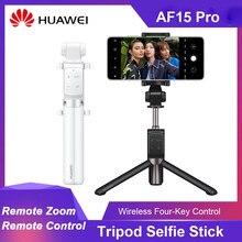 Huawei honor af15 pro tripé bluetooth selfie vara monopod sem fio portátil com zoom de controle remoto para ios android telefone
