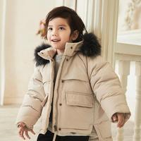 Children Down Coats Real fur collar thicker warm Baby boys girls Parka oversize Outerwear modis kids winter Down jackets Y2337