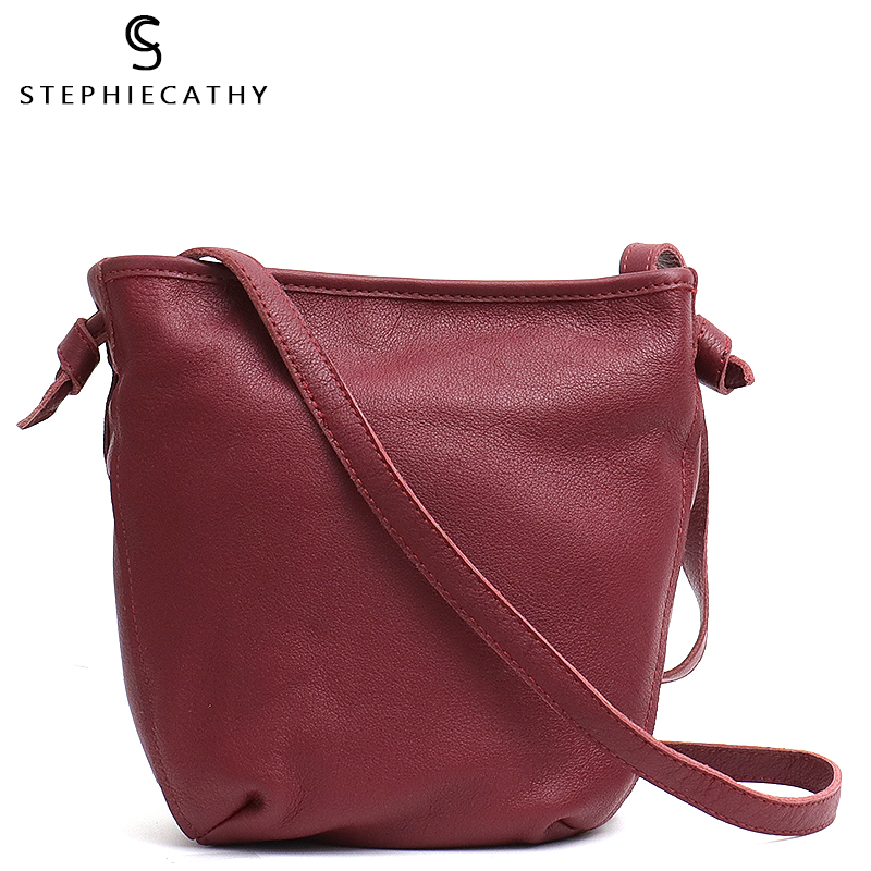 SC Women Real Leather Long Strap Messenger Bag Small Leather Casual Sling Shoulder Bag Ladies Luxury Leather Handbag Girls Purse
