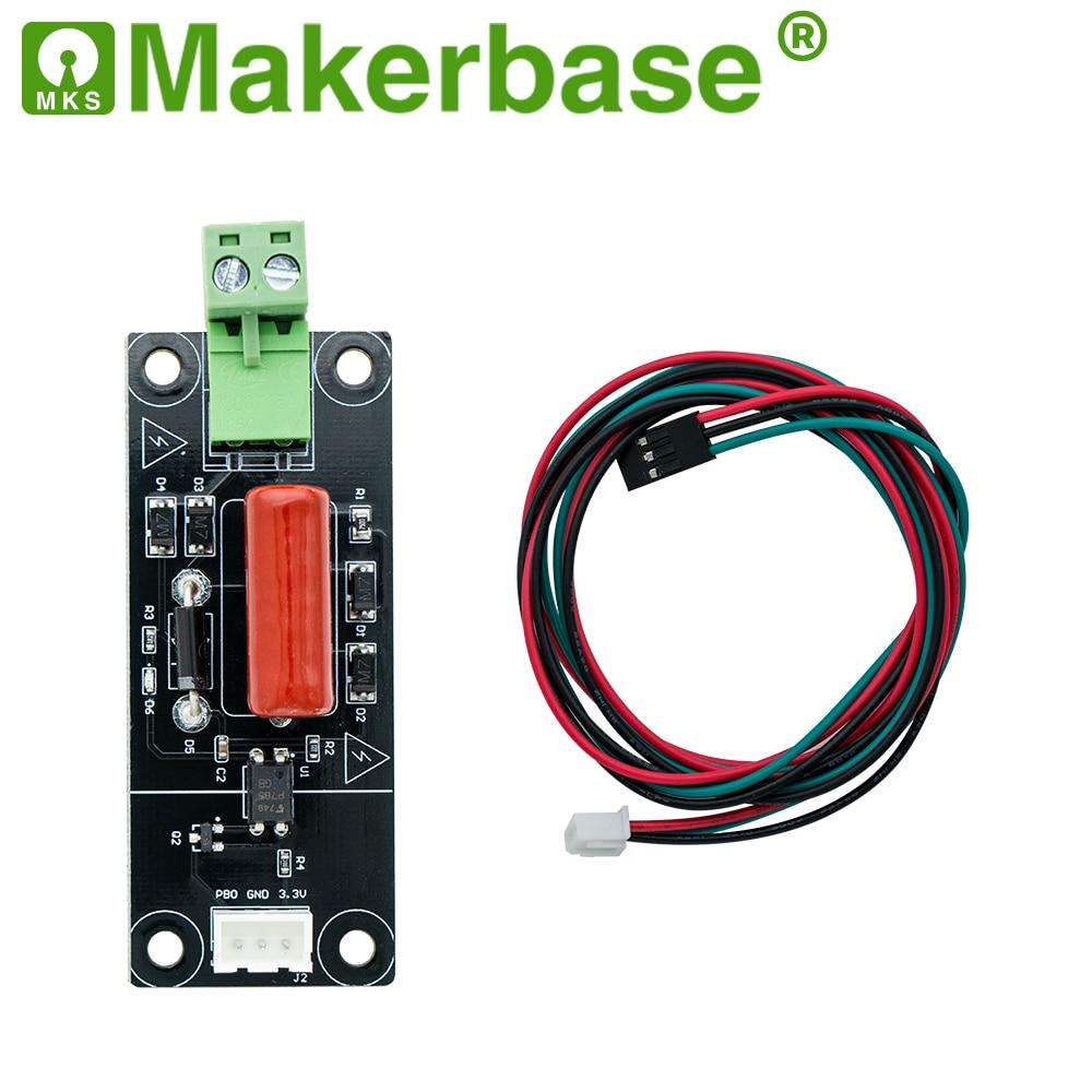 Bilgisayar ve Ofis'ten 3D Yazıcı Parçaları ve Aksesuarları'de Makerbase güç kesintisi algılama modülü MKS DET 3D yazıcı parçaları güç monitör dedektörü MKS tft dokunmatik ekran title=