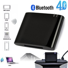 цена на Moresave Wireless BluetoothMusic Receiver Stereo Bluetooth 4.1 Audio Adapter for iPhone iPod 30 Pin Dock Speaker