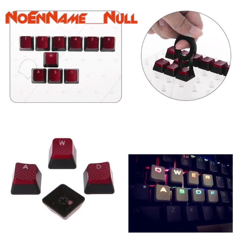 Mechanical Keyboard replaceable <font><b>Keycaps</b></font> 10Pcs/Pack <font><b>Keycaps</b></font> for <font><b>Corsair</b></font> K70 <font><b>K65</b></font> K95 G710 RGB for STRAFE Mechanical Keyboard image