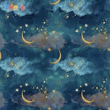 Moon Star Cloud Starry Sky Newborn Baby Shower Birthday Backdrop Custom Vinyl Photography Background For Photo Studio Photophone paper cloud colour balloon blue sky bird photo studio background vinyl cloth high quality computer printed birthday backdrop