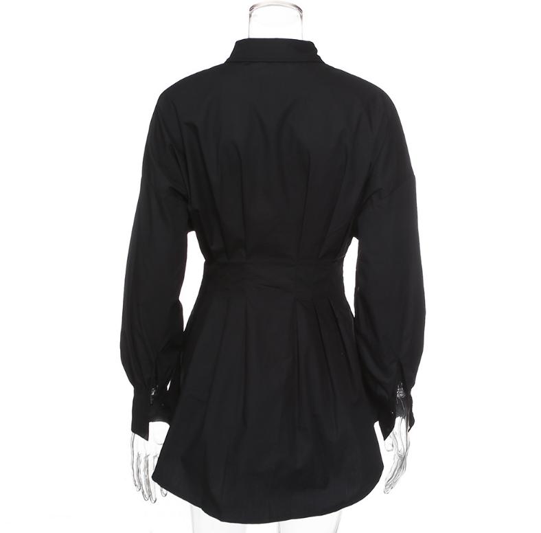 Office Lady Women Femal Ladies Long Sleeve Deep V Shirt Dress Sexy Mini Beach Dress Elegant Sexy Party Dress New