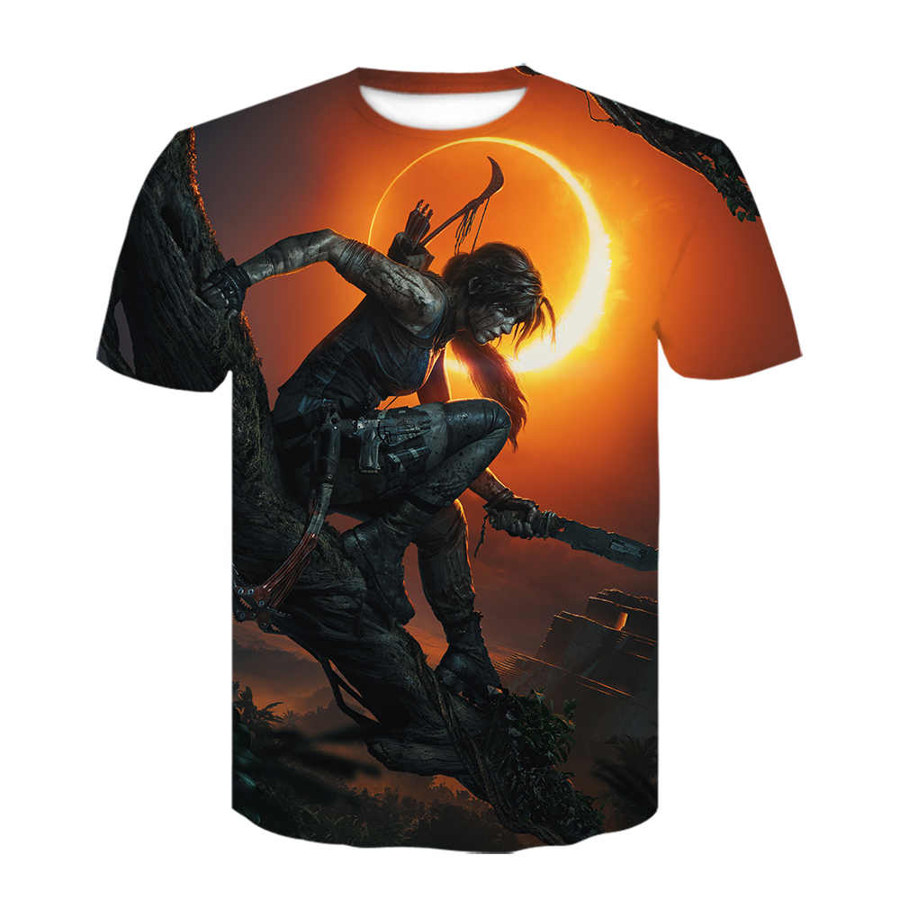 2020 Zomer Nieuwe T-shirt Classic Game Tomb Raider Avonturen Van Lara Croft Tshirt Off White Cosplay Shirt Hip Hop Korte mouw