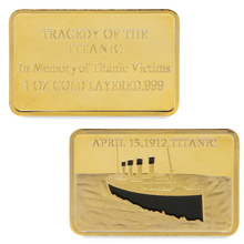 OOTDTY Tragedy Of The Titanic Commemorative Coin Zinc Alloy Collection No-currency Coins Gift MY22_30