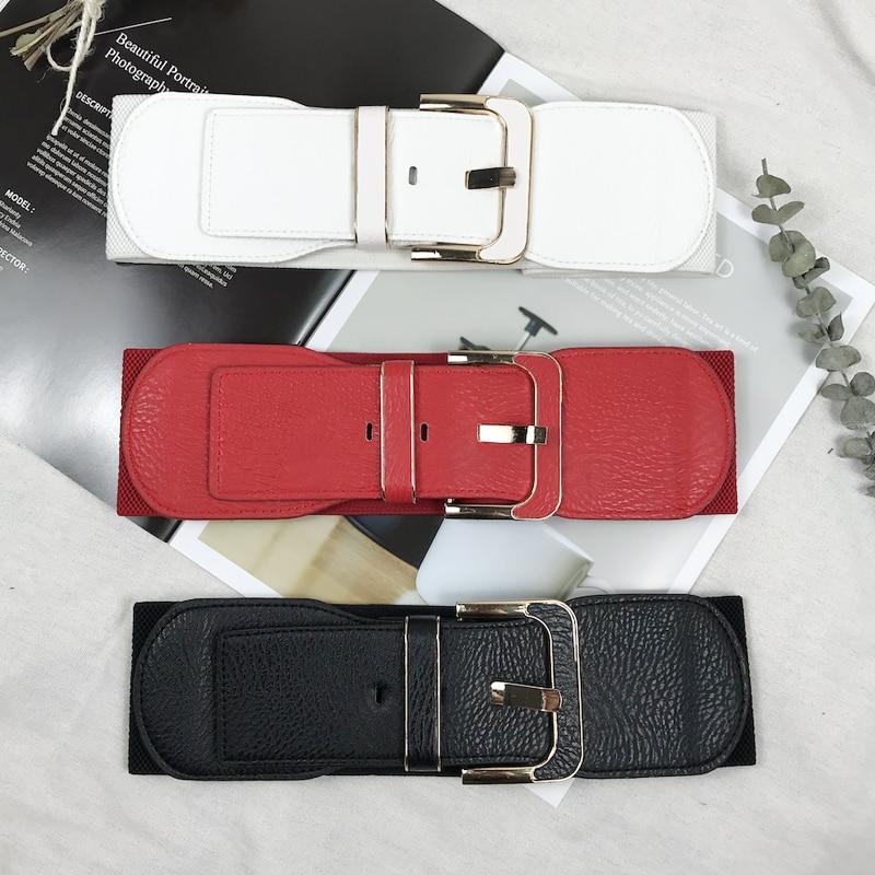 Corset Belt Woman Waist Wide Belts For Women Plus Size Cummerbunds Designer Elastic Big Ceinture Femme High Quality Dress Belt