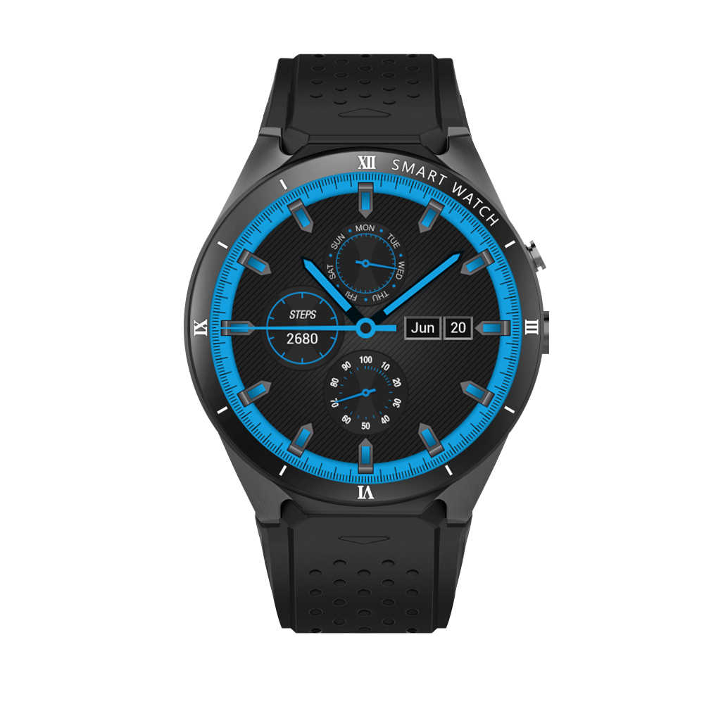 Montre intelligente KW88 fréquence cardiaque Android 5.1 OS Smartwatch 512MB + 8GB GPS WIFI Bluetooth montre téléphone hommes intelligents pour IOS Android