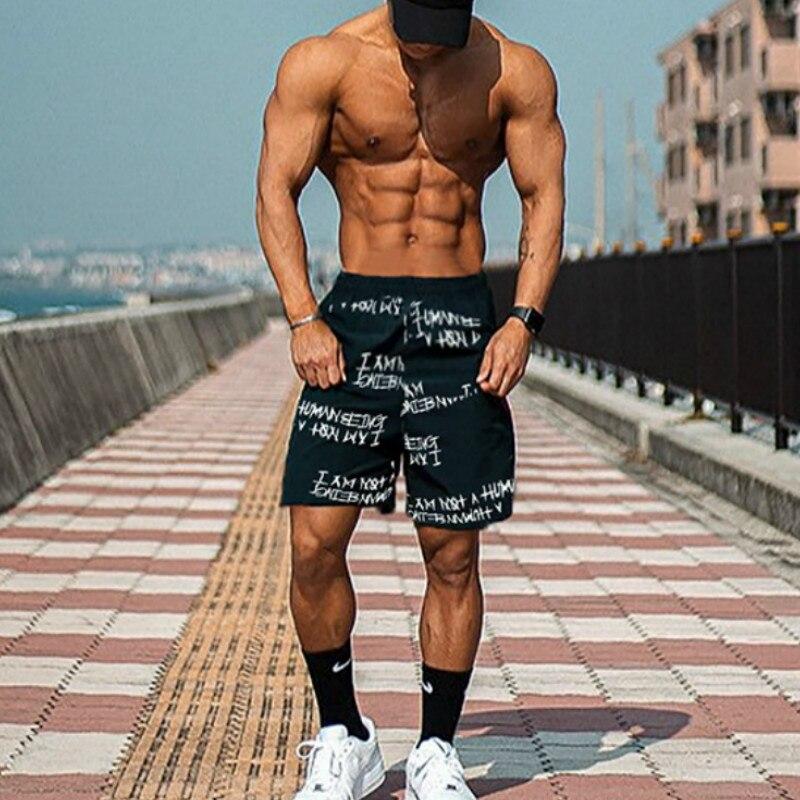 Men Summer Shorts Casual Fashion  Knee Length Hip Hop Shorts Men Streetwear Basketball Jogger Cotton Short Pants