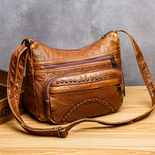 Women Bags New Fashion Shoulder Bags 2021 Designer Bag Luxury PU Leather Crossbody Bag Rivet Female Handbags Casual Tote Vintage