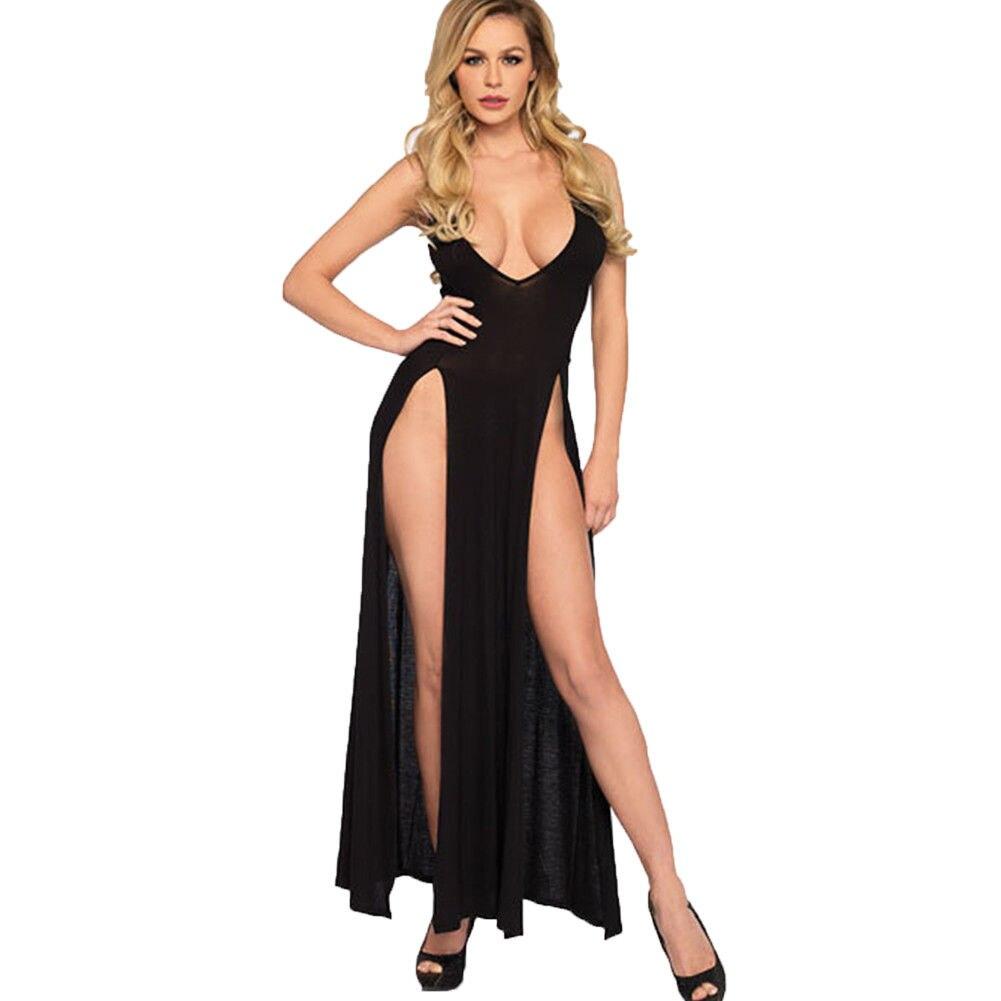Fashion Womens Sexy Lingerie Babydolls Underwear Robe Sleepwear Nightwear Long Dresses