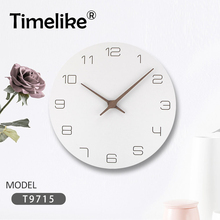 New Nordic Wall Clock Style Fashionable Simple Silent Clocks for Home Decor Pure White Type Modern Design Watch