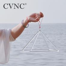 CVNC 16 인치 차크라 클리어 크리스털 노래 피라미드