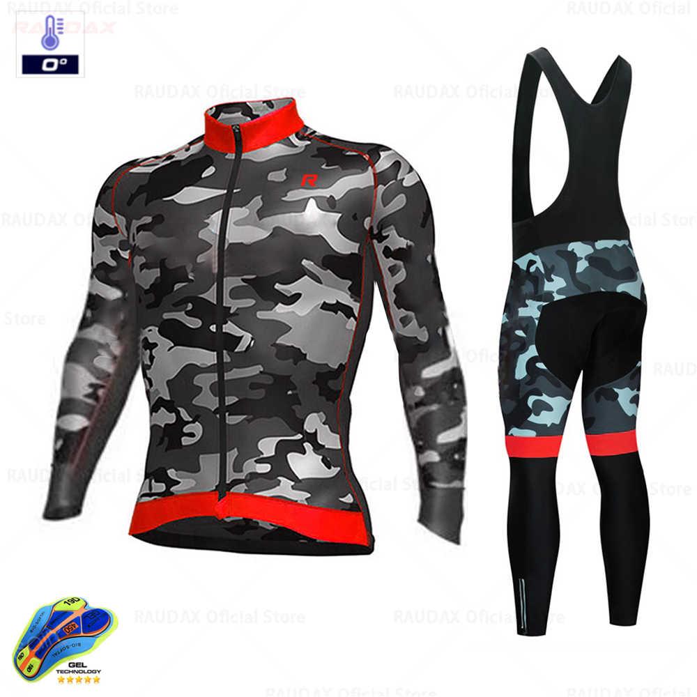 ฤดูหนาวขนแกะร้อนขี่จักรยานเสื้อผ้า 2020 Camouflage Men's JERSEYชุดขี่จักรยานกลางแจ้งMTBเสื้อผ้ากางเกงชุด