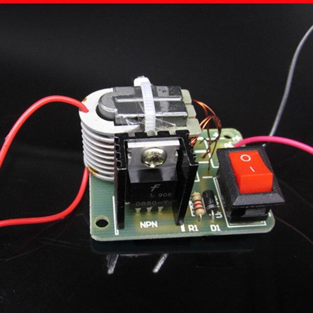 15KV High Voltage Inverter Frequency DC  Generator Spark Arc Ignition Coil Module 18650 DIY Kit U Core Transformer Suite 3.7V