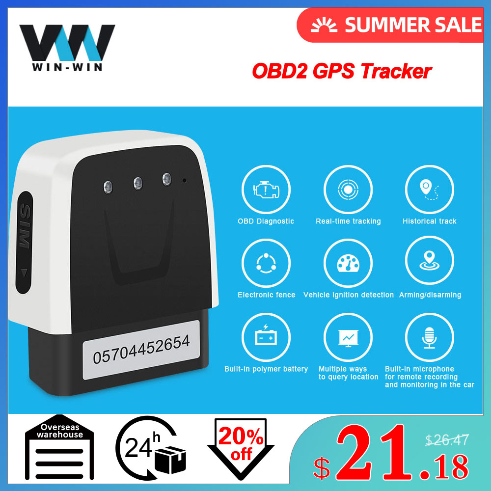 OBD2 MINI GPS Car Tracker Locator V20 OBD OBD2 Scanner For IOS Android Tracker GPS locator Auto MINI Car GPS Auto OBD2 Tracker