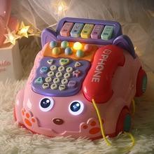 Retro Children's Telehone Toys Early Educational Story Phone Machine Baby Emulated Telephone For Children Musical